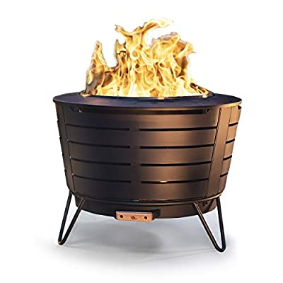 Tiki Brand 25 Inch Stainless Steel Low Smoke Fire Pit - Includes Free Wood Pack and Cover!!