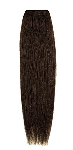 American Dream Remy 100% cheveux humains 35,6 cm soyeuse droite Trame Couleur 6 – Brun Foncé Cendré