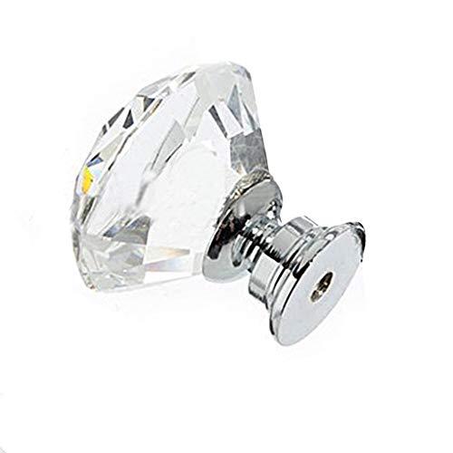 Armario De Vino Manija De Cristal Tiradores Para Muebles De Ba/ño 40 Mm A Puerta 2 Uds Caj/ón Armario Para Dormitorio Pomo De Diamantes
