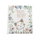 Álbum de Fotos Infantil, Álbum Fotos 20 hojas Adhesivas. Diferentes tamaños y motivos. (Blanco, 30x25)