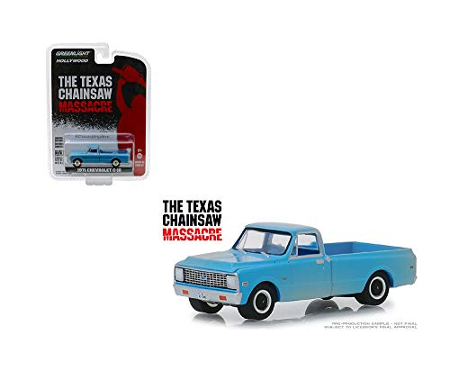 Greenlight 1971 Chevrolet C-10 Pickup Truck - Texas Chainsaw Massacre Film Auto Hollywood 1:64