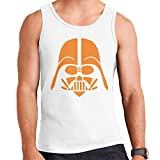 Star Wars Darth Vader Orange Siluetas Men's Vest blanco XXL