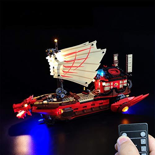 Kepae LED Licht Set für Lego Ninjago - DIY Leuchtende Bausteine Beleuchtung Kit für Lego Ninja-Flugsegler 71705 - Modell Nicht Enthalten