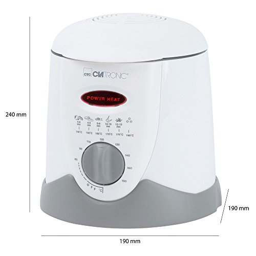 Clatronic FFR 2916 Mini-Fritteuse mit Fondue 09l 840 W weiß-beige - 3