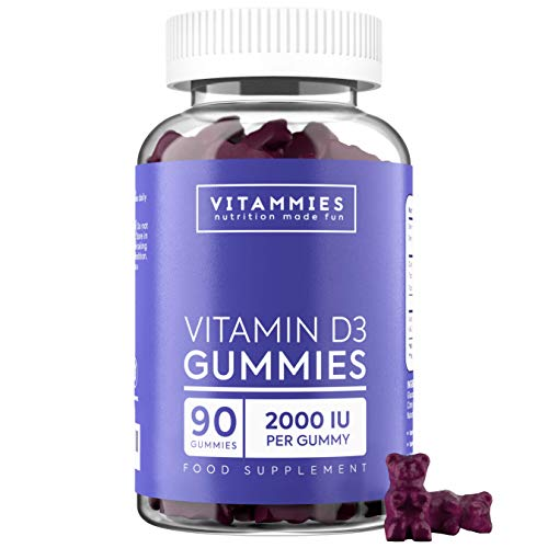 Vitamin D Chewable Gummies 2000 IU | Highest Strength Vitamin D3 Gummies | Gluten-Free, Non-GMO, Vegetarian, 90 Count, Berry Flavour | Gummy Alternative to Vitamin D Capsules for Adults and Children