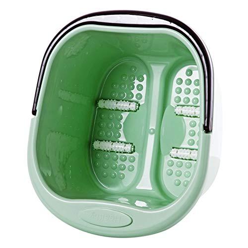Fußbad Mit Griff,kunststoff Fuß-becken Massagegerät,japanisch-stil Fuß Spa Fußwanne Fuss Spa Eimer Einweichen Pediküre Erleichterungen Für überarbeitete Schmerzende Füße-grün 39x33x24cm(15x13x9inch)
