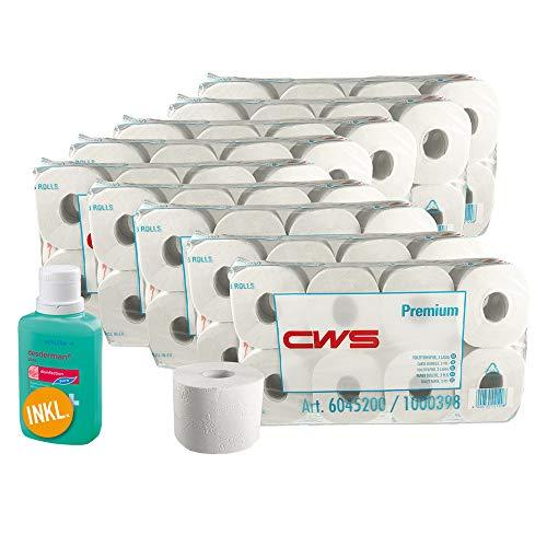72x CWS Premium Toilettenpapier BULK-Verpackung inkl. desderman® pure 100ml