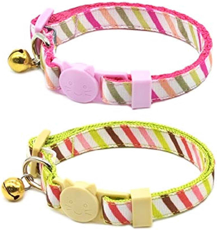 Fantasia Pet Breakaway CAT Collar  2 PCS Bundle Pack (PBL210)