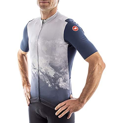 CASTELLI Polvere Jersey Camiseta, Dark Gray, L para Hombre