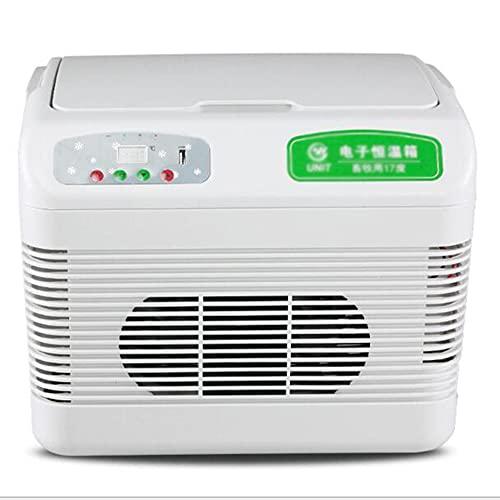 Refrigerador de refrigerador de mini coche portátil, refrigerador de vacunas de insulina medicina, 12 litros con refrigeración y función de conservaci.