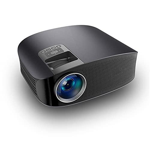 SDFD Videoproiettore, Proiettore a Vita con Sorgente Luminosa a LED con correzione della distorsione trapezoidale ad Alta Definizione, Adatto per Soggiorno, Ufficio, Festa, Gioco