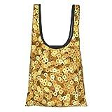 Bolsa de compras reutilizable y lavable con lentejuelas doradas vintage 50 libras plegable y respetuosa con el medio ambiente