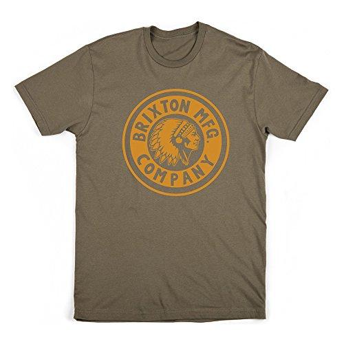 BRIXTON t-Shirt pour Homme Rival L Vert - Olive