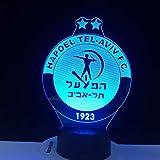 Israel Hapoel Tel Aviv LED-Zeichen 3D LED Nachtlicht Gadget Lieferanten Support Custom Made Best 2019 Kinder Geschenkset 1575