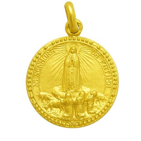 Virgen de Fátima - Medalla en Oro de 1ª Ley de 18k