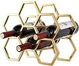 Multifonction vin étagère vin Racks 6 bouteilles de vin en rack -Fer multifonction étage vin Shelf Cave à vin