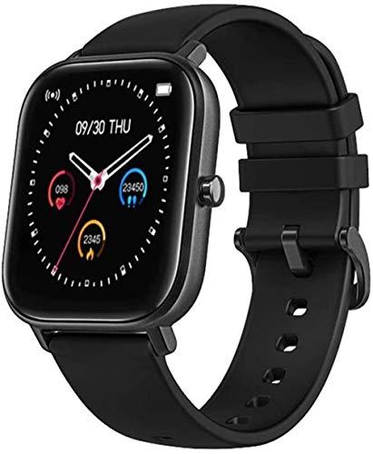 Smart Watch 1 4 pulgadas pantalla táctil completa Fitness Tracker para hombres y mujeres Recordatorio inteligente Monitoreo Bluetooth reloj de lujo negro