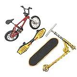 YSISLY Giocattolo Sport Dita Mini Scooter Bike Finger Toy Skateboard con Tastiera per Ragazzi Ragazze Bambini Favori di Festa Educativi Decorazione (Red)