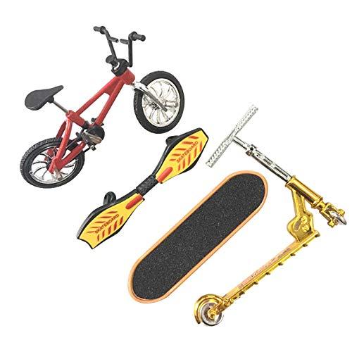 YSISLY Juguete Deportivo Dedos Mini Scooter Bicicleta Dedo Monopatín con Teclado para Niños Niñas Decoración de Favores Fiesta Educativos (Red)