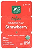 365 by Whole Foods Market, Organic Yogurt, Whole Milk - Strawberry (6 - 4 Ounce Cups), 24 Ounce