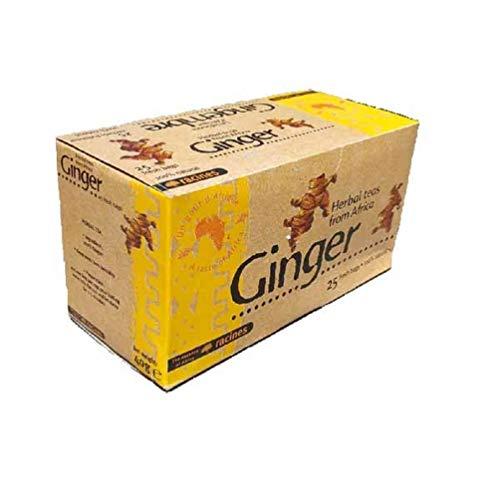 [ INFUSION 100% JENGIBRE ] Caja de infusión con Jengibre 100% natural | La magia del rizoma del jengibre! | 25 sobres de 1.6g