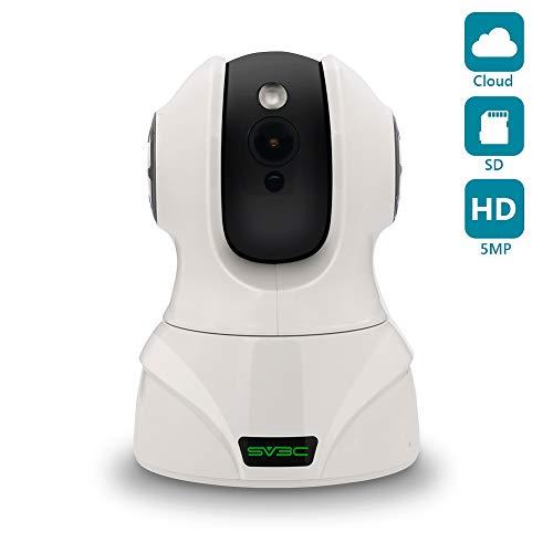 SV3C WLAN IP Kamera 5MP WiFi Überwachungskamera mit 350°/100°Schwenkbar, Zwei-Wege Audio,Bewegungserkennung, Nachtsicht, Sicherheitskamera Home Indoor-Kamera für Haustier/Baby Monitor