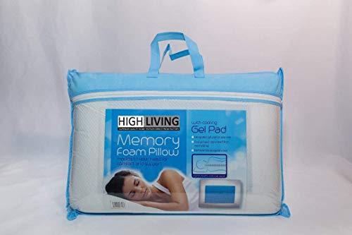 HIGH LIVING Kühlendes Kopfkissen aus Memory Schaum, orthopädisch, Komfort, für kühle Nächte
