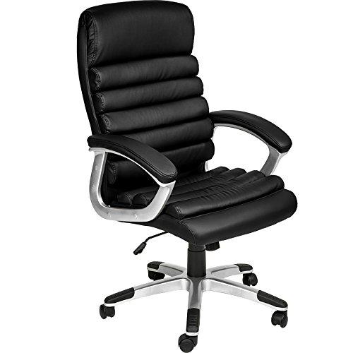TecTake Chaise de Bureau Fauteuil de Direction Hauteur réglable   Design ondulé   diverses Couleurs au Choix (Noir   no. 402149)