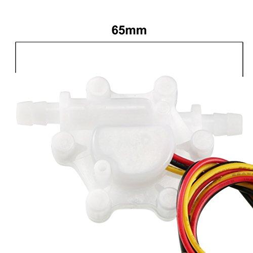 "uxcell 1/4"" Hall Effect Water Flow Sensor Switch Flowmeter Fluid Counter DC5V 0.15-1.5L/Min SEN-HZ06C"