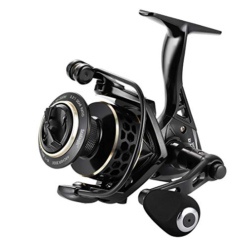 SeaKnight Archer - Carrete de pesca giratorio, 8+1 BB, CNC de aluminio hueco para trenza, carrete de giro ligero, ultra suave, potencia máxima de arrastre 30 libras para agua dulce