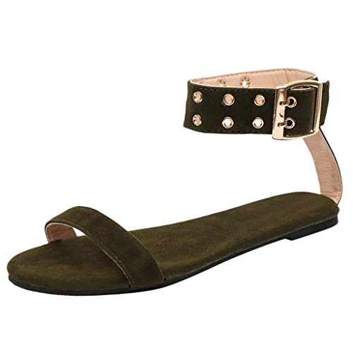 TUDUZ Sneaker Socken Herren Damen Outdoor Sandalen Flache farblich passende Strandschuhe Wandern Wandern Sandalen Geschlossene Ballerinas(Armeegrün,37EU)