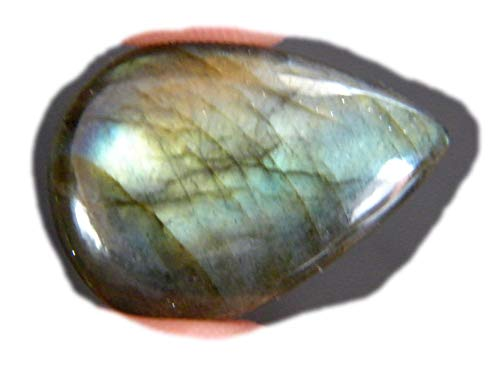 RASIO Cabujón de labradorita llamativo, forma ovalada, hermoso cabujón de diseñador, piedra preciosa labradorita natural, 36 unidades, 27 x 17 x 8 mm, 20K-02857