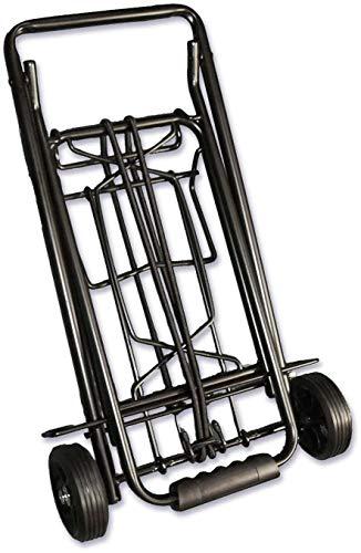 Carro de la compra ISOP plegable más ligero y ligero, carretilla de uso pesado, plegable, fácil de almacenar, construcción sólida, 2 ruedas (ruedas grandes)