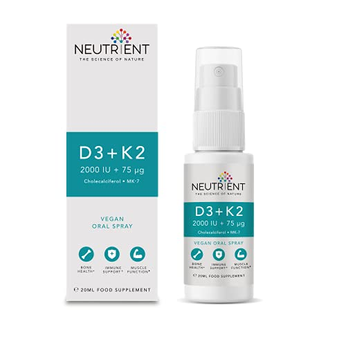 Neutrient D3 + K2 - Vitamin D3 & Vitamin K2 Oral Spray