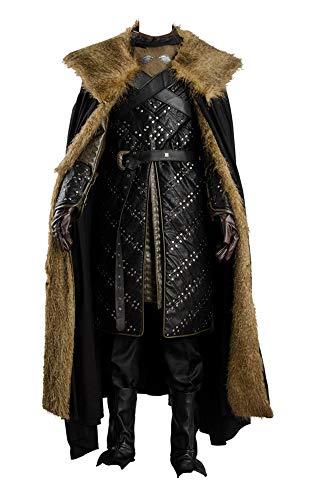 Enhopty GoT 7 Season 7 Jon Snow Nachtwache Outfit Cosplay Kostüm Herren L