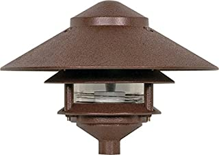 Nuvo Lighting SF76/635 One Light Two Louver Large Hood 120 Volt Die Cast Aluminum Durable Outdoor Landscape Pathway Lighting, Old Bronze