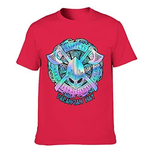 Style - Camiseta de algodón para hombre Rojo Rojo1 XXL