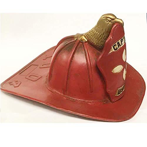 Sared Modell Feuerwehrhelm US Rot Metall Vintage – 17 x 33 x 27 cm – Geschenkideen Vatertag