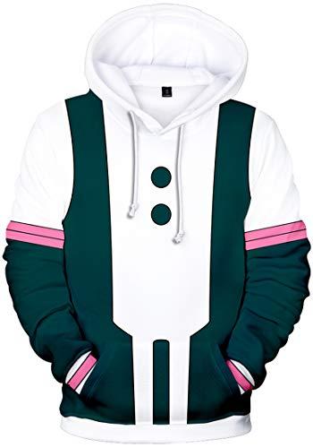 FLYCHEN Girls Hoodies Inspired by My Hero Academia Midoriya Lzuku Ochaco Uraraka Todoroki Shoto Pullover Sweatshirts Jumper 4XL Uniform 2904