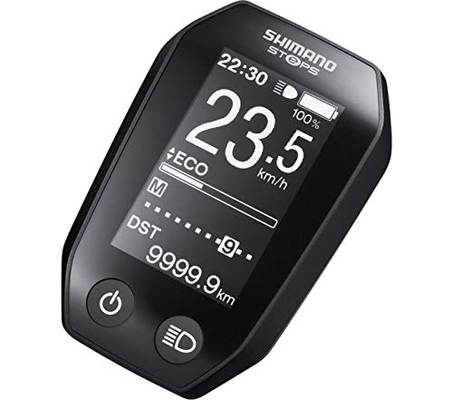 Shimano_1 Informations-Display Fahrradcomputer-E-Bike für Steps SC-E6010 inkl. Halter, schwarz