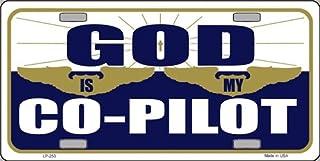 LP - 253 God is My Co - Pilot License Plate - 50