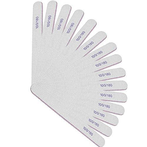 EasyULT 15 Pezzi Lime per Unghie 100/180, Professionali Lavabile a Doppia Faccia Lima Unghie, per Uso Domestico