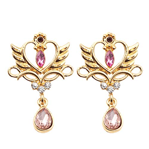Dacitiery Sailor Moon Earrings for Girls, Anime Earrings with Pendant, Gift for Fans