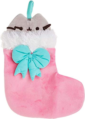 GUND Pusheen Christmas Holiday Stuffed Plush Cat in Stocking, 11'