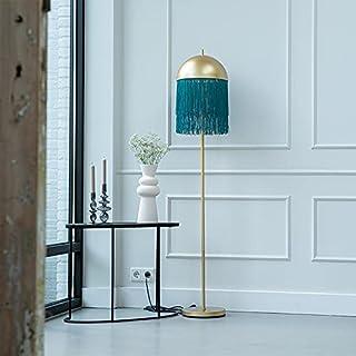 Qazqa Lampadaire | Lampe sur pied Oriental - Fringle Lampe Vert Doré/Laiton - E27 - Convient pour LED - 1 x 60 Watt