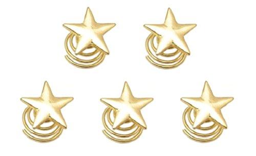 (ジョーダイ) Joudai ゴールド スター パール スクリュー ヘアピン ヘアアクセサリー ヘアクリップ 大人 髪...