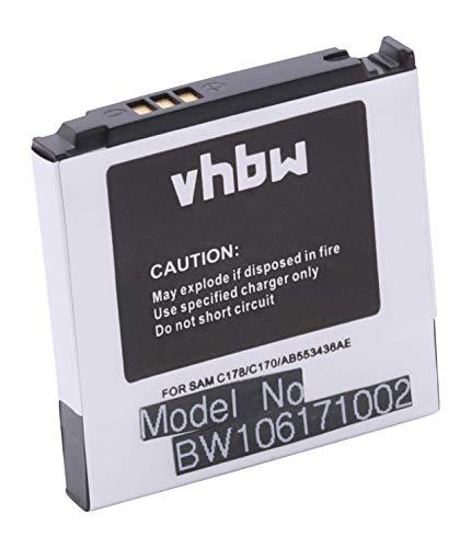 vhbw Akku passend für Samsung SGH-C170, SGH-C180 Handy Smartphone Handy ersetzt Samsung AB553436AE, AB553436ACESTD (600mAh, 3.7V, Li-Ion)