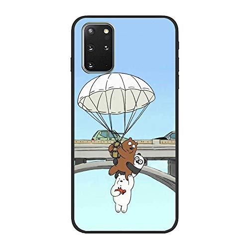 Clear Soft Silicone TPU Liquid Case for Samsung Galaxy S20 Plus, We Bare-Bear Animated 10