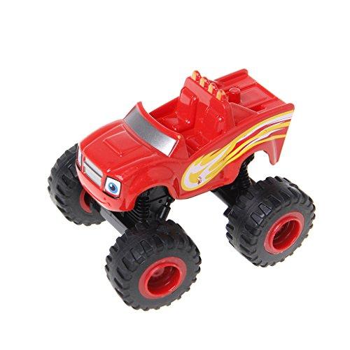 Kofun Juguete del Coche, Blaze Machines Vehicle Toy Racer Cars Transformación de Camiones Juguetes Regalos para niños Juguete de Coche Rojo