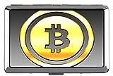 Estuche rígido de Cigarrillos de Paquete Completo, Estuche de Tarjeta de Negocios con Bolsillo de Metal con Moneda Dollar Bitcoin